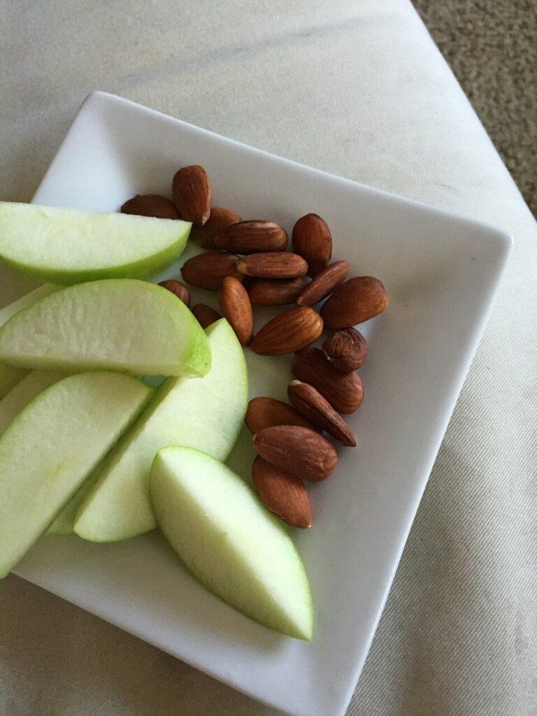 Pommes et amandes